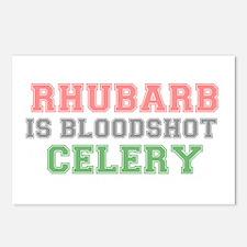 RHUBARB IS BLOODSHOT CELE Postcards (Package of 8)