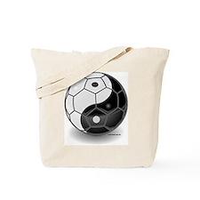 Ying Yang Soccer Ball Tote Bag