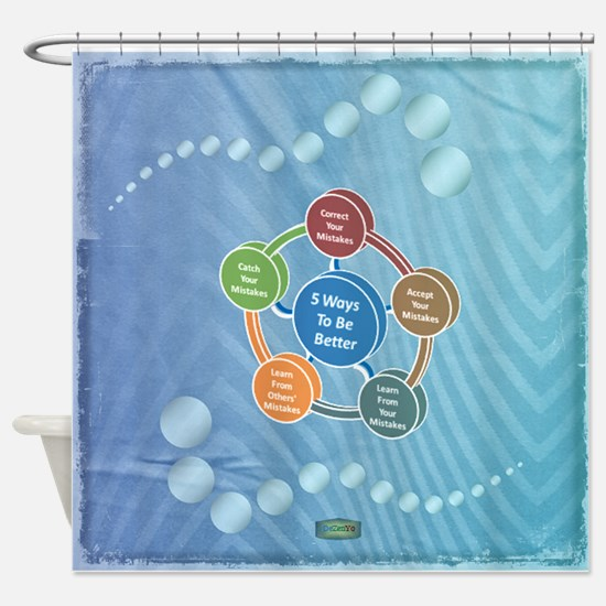 14th Quote; 5 Ways to be better Shower Curtain