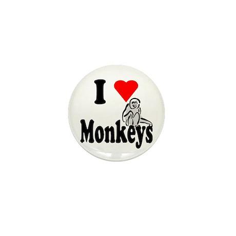 I Heart Monkeys Mini Button (10 pack)