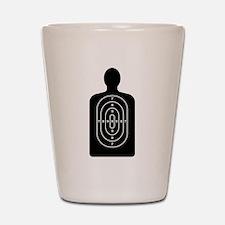 Human Shape Target Shot Glass