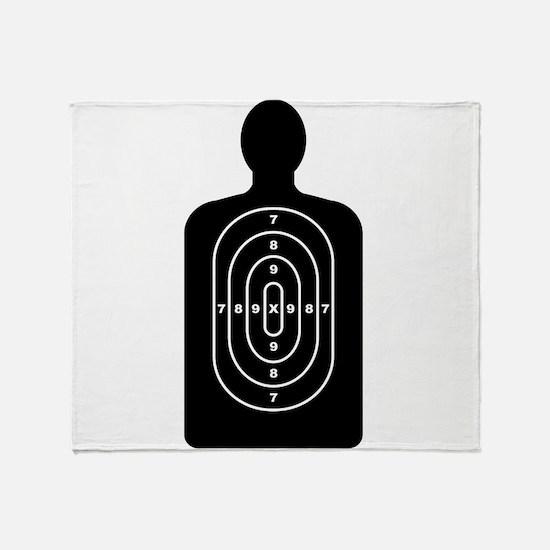 Human Shape Target Throw Blanket