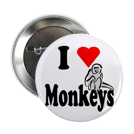 "I Heart Monkeys 2.25"" Button (10 pack)"