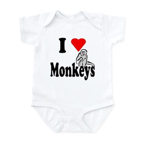 I Heart Monkeys Infant Bodysuit