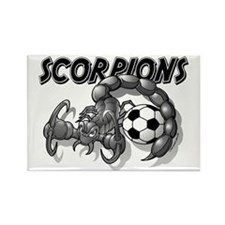 Black Scorpions Soccer Rectangle Magnet