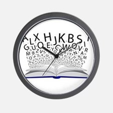 Book of Letters Wall Clock