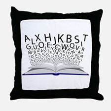 Book of Letters Throw Pillow
