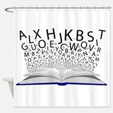 Book of Letters Shower Curtain