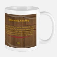 15th Quote; Opportunity Knocking Mugs
