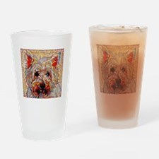 West Highland Terrier: A Portrait i Drinking Glass