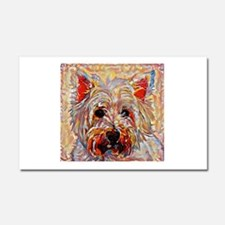 West Highland Terrier: A Portra Car Magnet 20 x 12