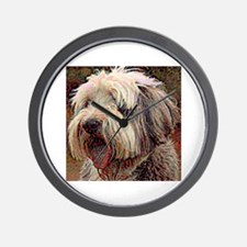 Bearded Collie: A Portrait in Oil Wall Clock