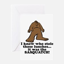 Sasquatch Stole the Lunches Greeting Card