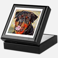 Rottweiler: A Portrait in Oil Keepsake Box