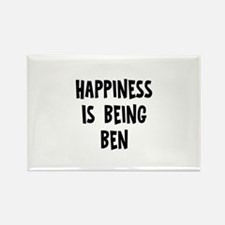 Happiness is being Ben Rectangle Magnet
