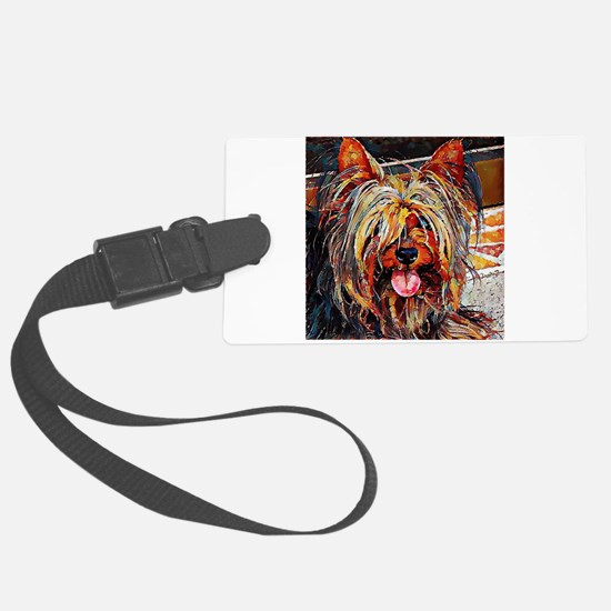 Yorkshire Terrier: A Portrait in Luggage Tag