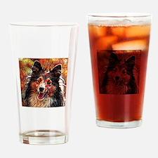 Shetland Sheepdog: A Portrait in Oi Drinking Glass