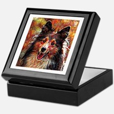 Shetland Sheepdog: A Portrait in Oil Keepsake Box