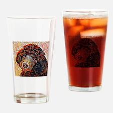 Standard Poodle: A Portrait in Oil Drinking Glass