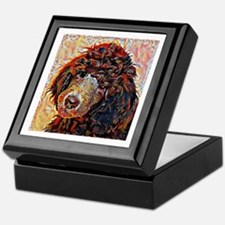 Standard Poodle: A Portrait in Oil Keepsake Box