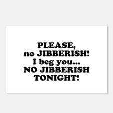 Please no JIBBERISH Postcards (Package of 8)