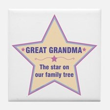 Great Grandma Star Tile Coaster
