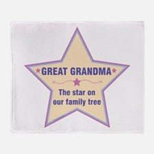 Great Grandma Star Throw Blanket
