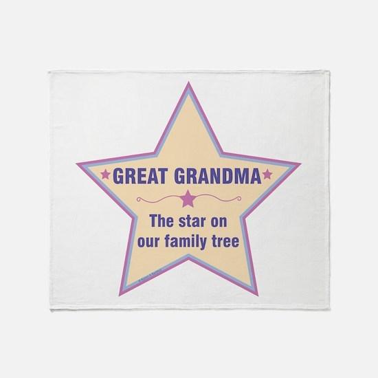 Great Grandma Star Throw Blanket
