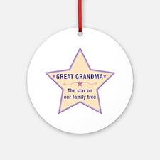 Great Grandma Star Round Ornament