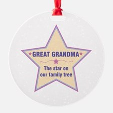 Great Grandma Star Ornament