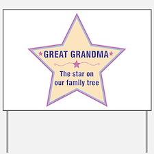 Great Grandma Star Yard Sign