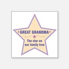 Great Grandma Star Sticker