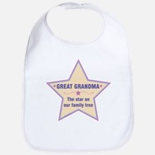 Great Grandma Star Bib