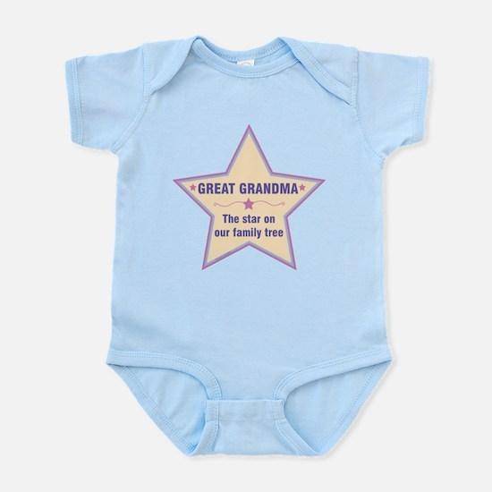 Great Grandma Star Body Suit