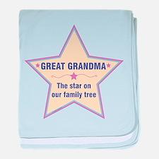 Great Grandma Star baby blanket