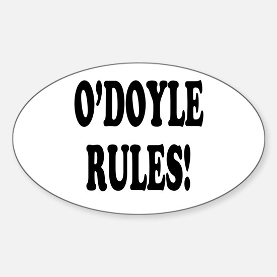 O'Doyle Rules! Oval Decal