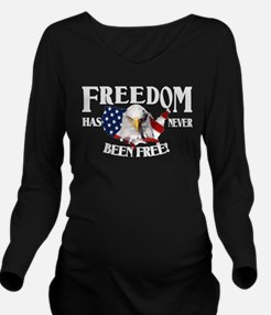 Freedom Never Free-WH Long Sleeve Maternity T-Shir