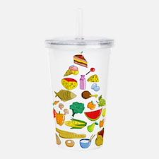 Food pyramid design ar Acrylic Double-wall Tumbler