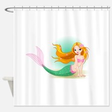 Mermaid at moon design Shower Curtain