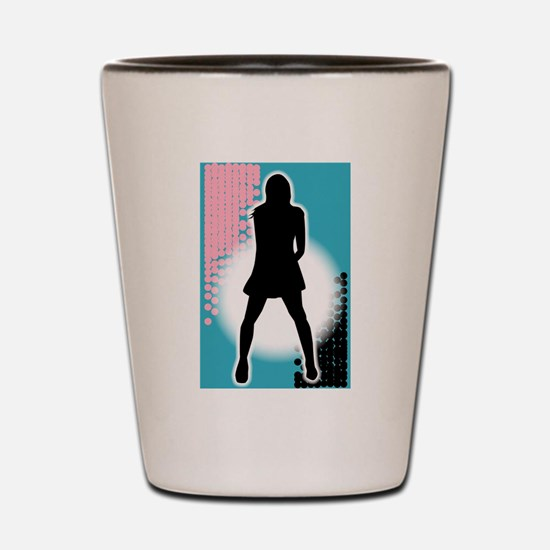 Grunge Girl Performer Shot Glass