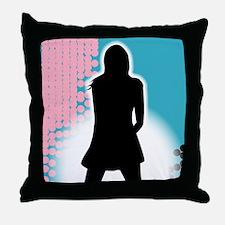 Grunge Girl Performer Throw Pillow