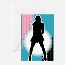 Grunge Girl Performer Greeting Cards