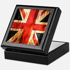 British UK Flag Grunge Vintage Keepsake Box