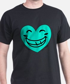 Personalized Heart Silly Grin T-Shirt