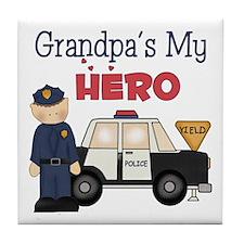 Grandpa's My Hero Tile Coaster