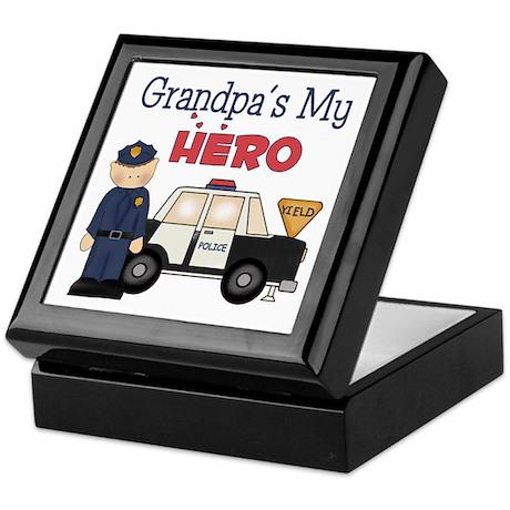 Grandpa's My Hero Keepsake Box