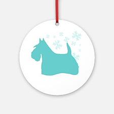 Scottie Snowflake Ornament (Round)