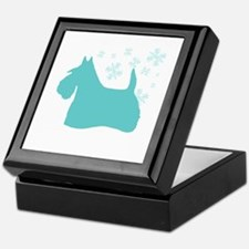 Scottie Snowflake Keepsake Box