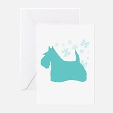 Scottie Snowflake Greeting Cards (Pk of 10)