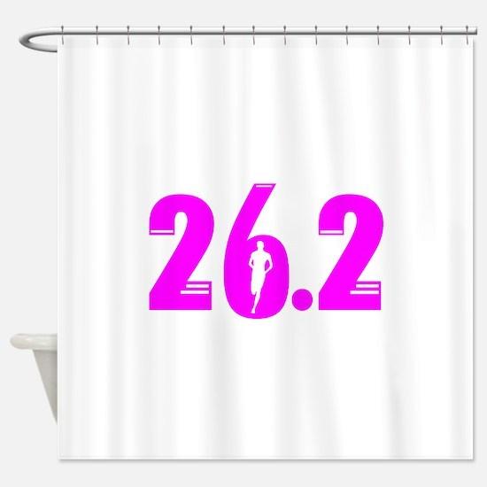 26 2 marathon pink Shower Curtain